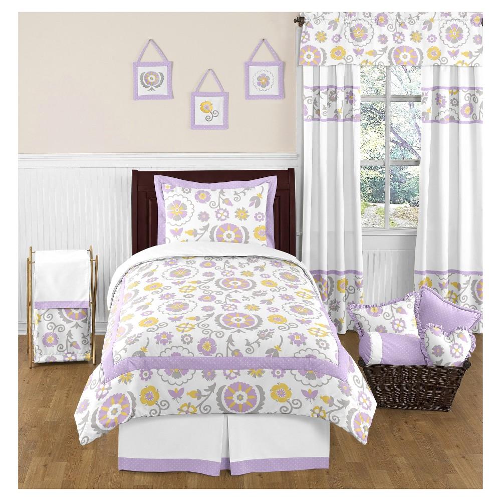 Lavender & White Suzanna Comforter Set (Twin) - Sweet Jojo Designs