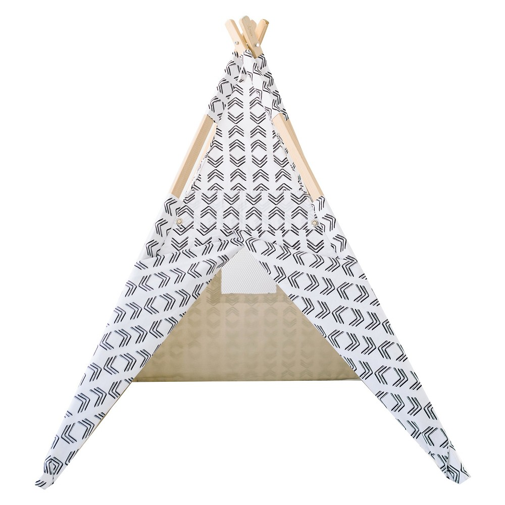 The Swiss Teepee - Black and White - Tnee's Tpees, Black/White