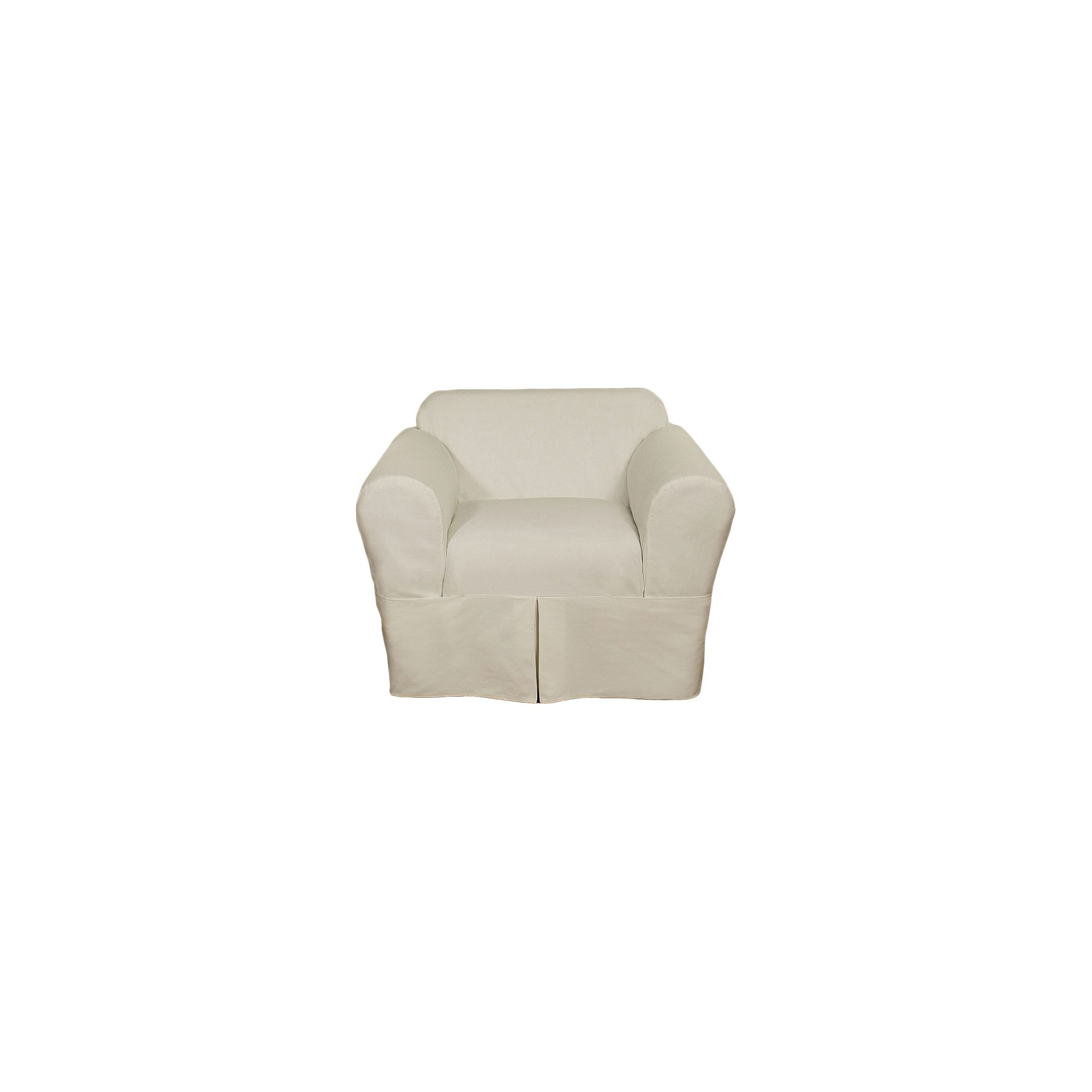 White Wrap Chair Slipcover (2 Piece)