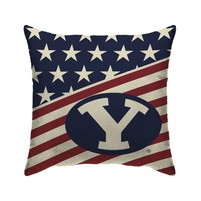 NCAA BYU Cougars Americana Decorative Throw Pillow