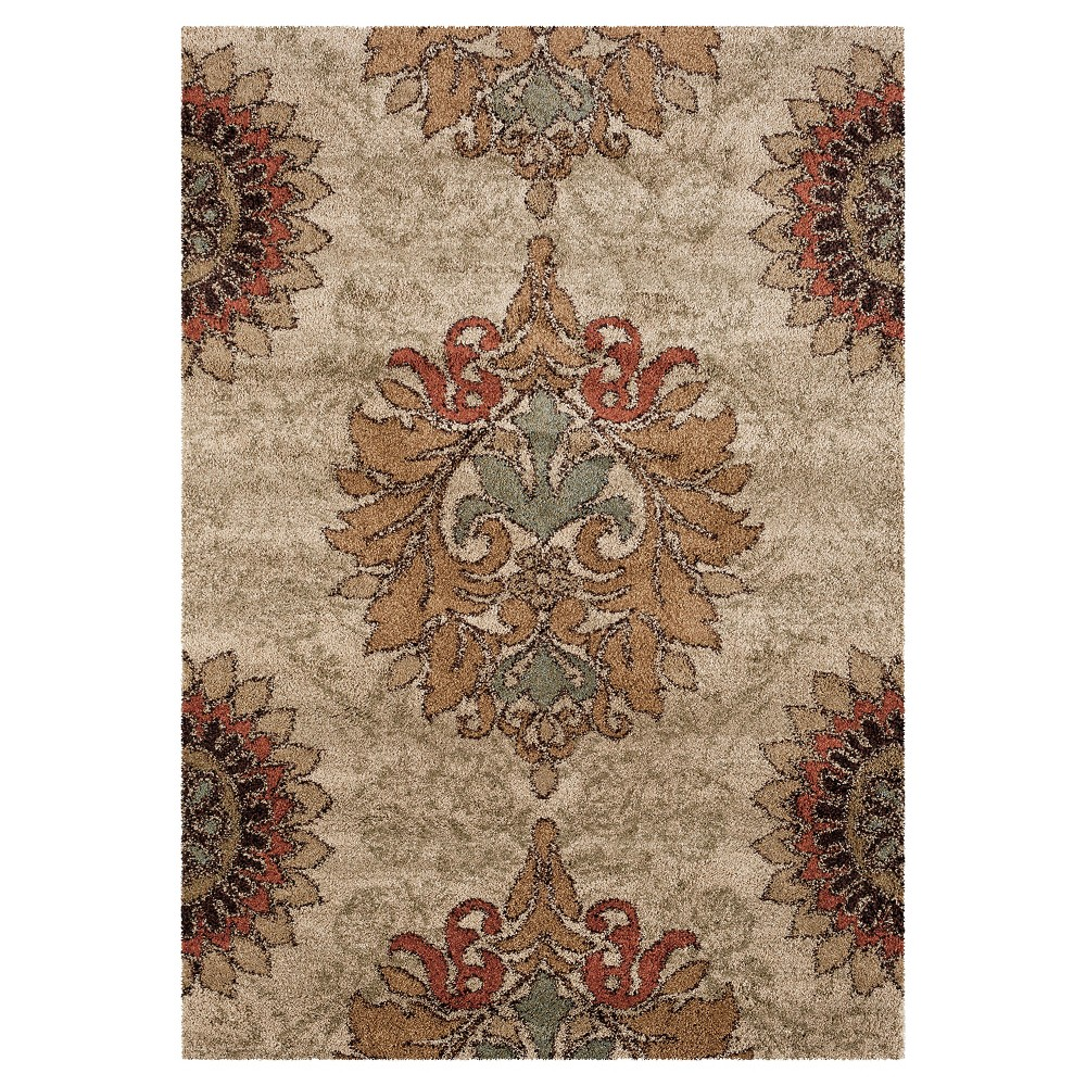 "Image of ""Beige Abstract Woven Area Rug - (7'10""""X10'10"""") - Orian"""