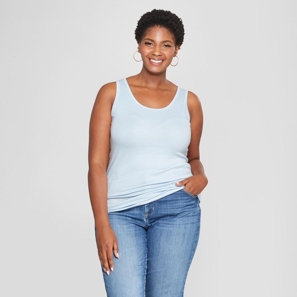 Women's Plus Size Perfect Tank - Ava & Viv Blue 4X