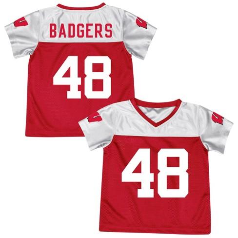 bbf5fef51d58 Wisconsin Badgers Boys  Short Sleeve Replica Jersey