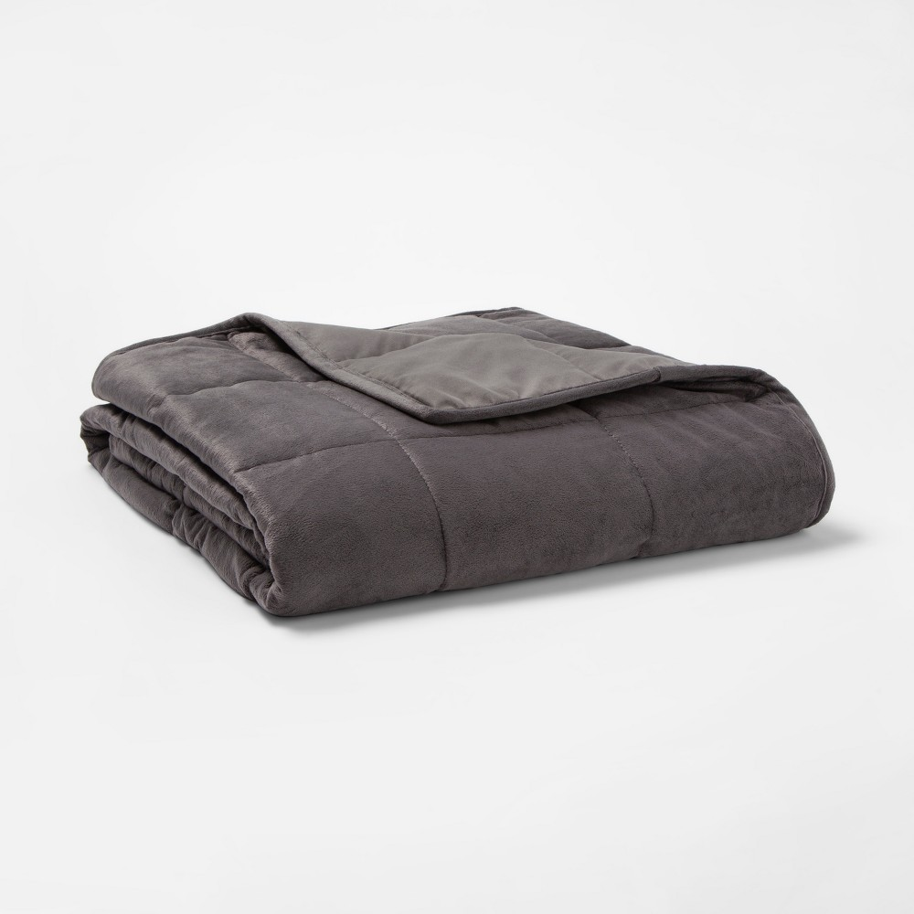 Image of 10lb Weighted Throw Blanket Gray - Tranquility