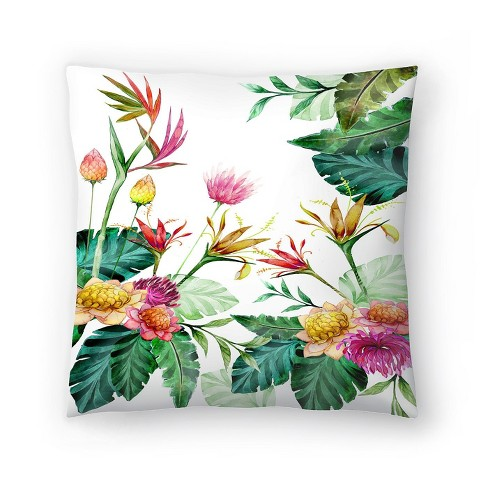 Americanflat Tropical Pink Yellow By Victoria Nelson Throw Pillow Target