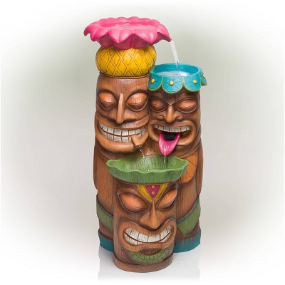 "35"" 3-Tier Tiki Fountain - Alpine Corporation"