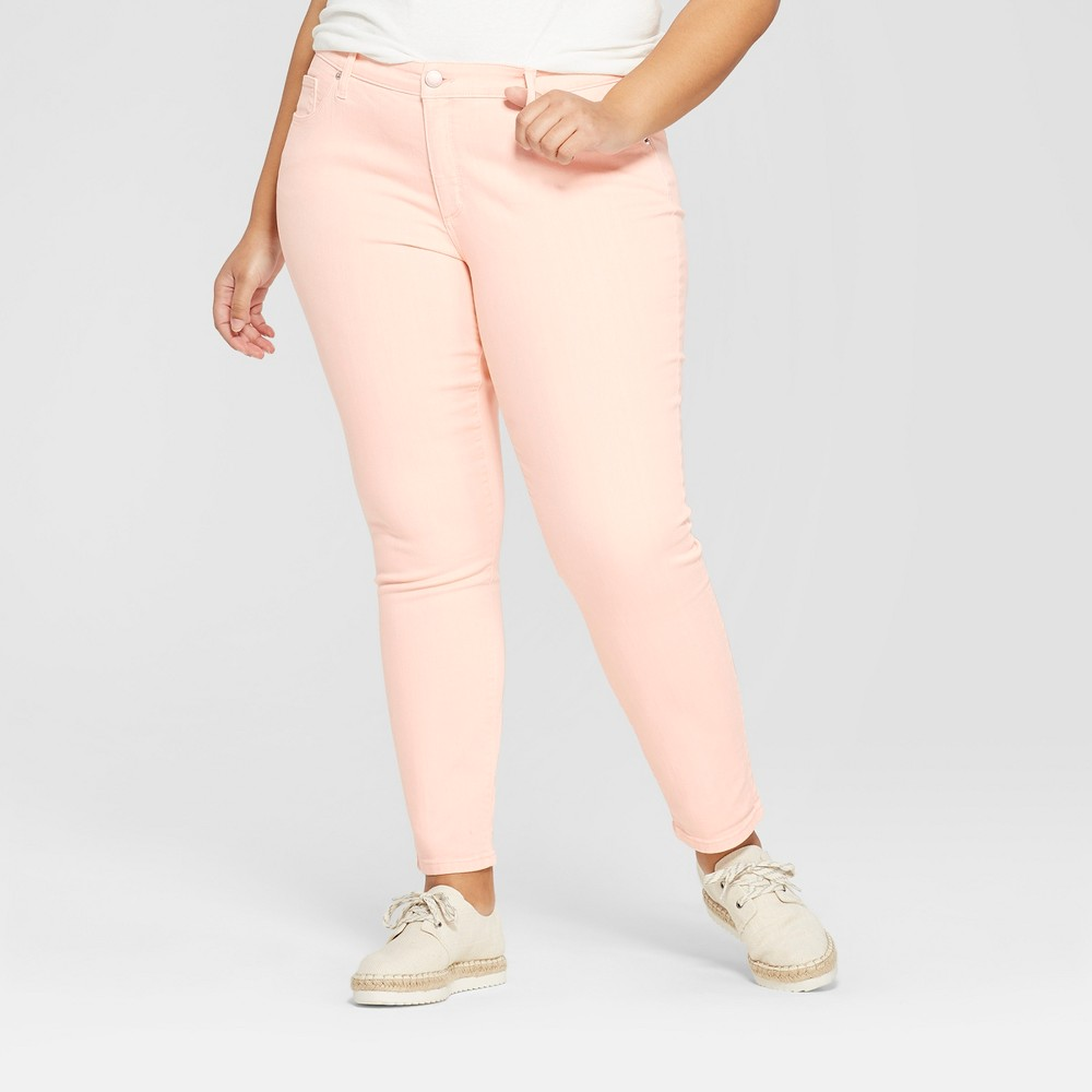 Women's Plus Size Skinny Jeans - Universal Thread Peach 16W, Orange