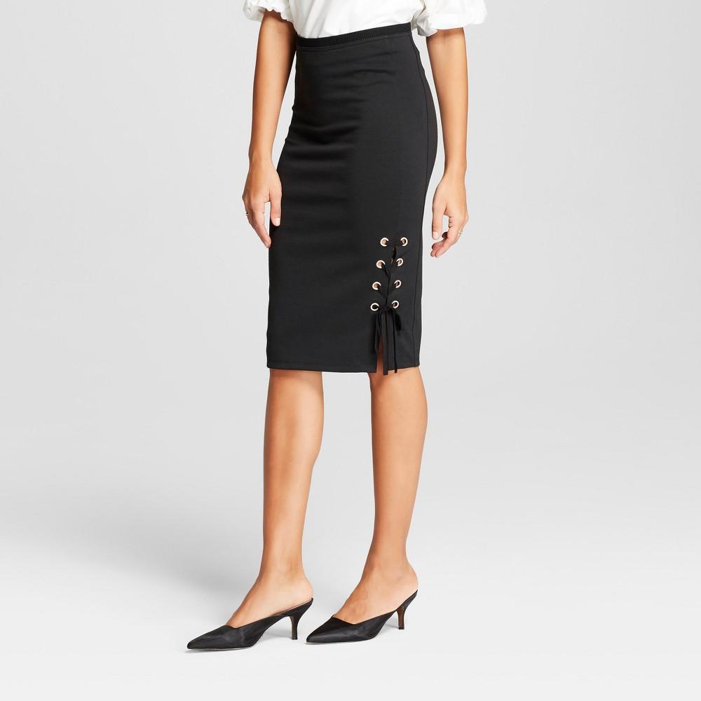 Women's Asymmetrical Lace-Up Pencil Skirt - Alison Andrews Black XL
