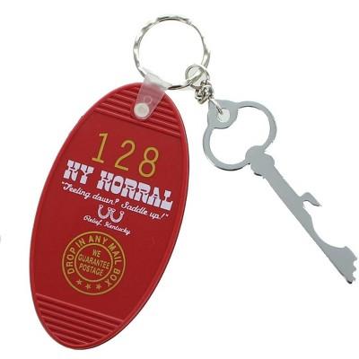 Crowded Coop, LLC Retro Motel Key Fob - KY Korral Red