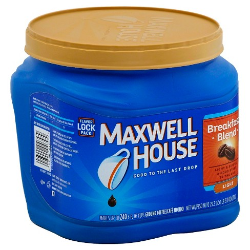 Maxwell House Breakfast Blend Light Roast Ground Coffee - 29.3oz - image 1 of 3
