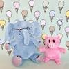 "YOTTOY Elephant 7"" & Piggie 5"" Plush Set of Companion Soft Toys - image 4 of 4"
