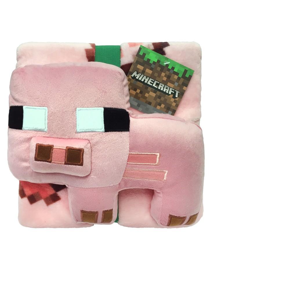 Image of Minecraft Pink Throw Pillow Set