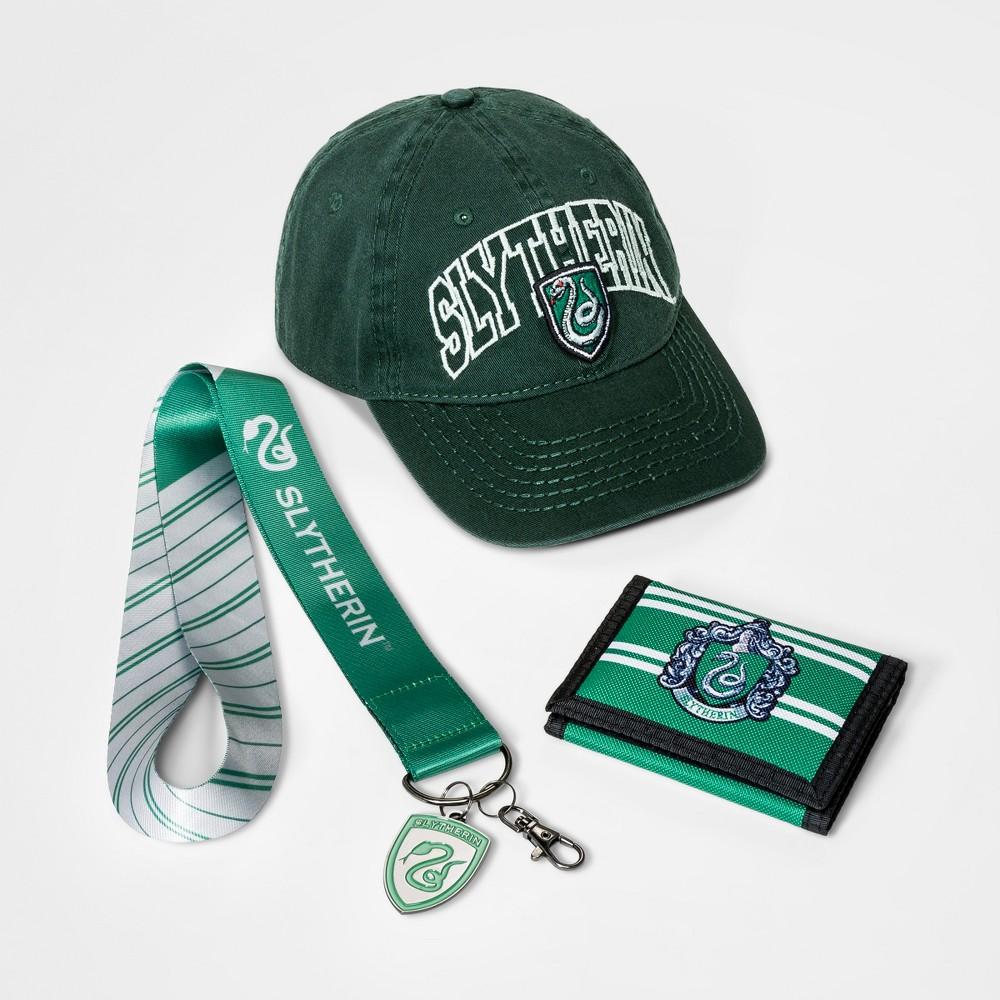 Boys' Slytherin Hat, Wallet & Lanyard Gift Set - Green