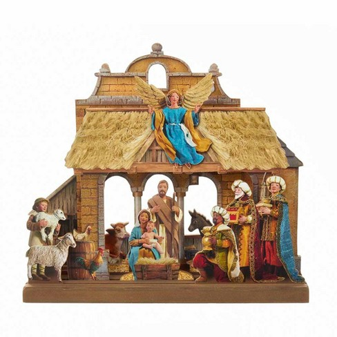 "10.6"" Wooden Nativity Tablepiece Set - image 1 of 1"
