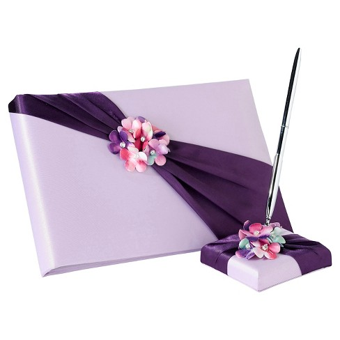 Radiant Flower Guest Book with Pen Set - image 1 of 1