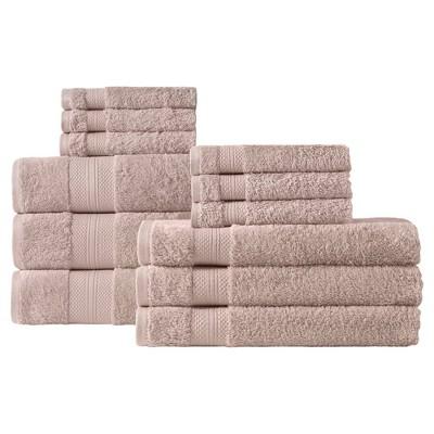 Chloe Bath Towel Set 12pc Beige - Makroteks®