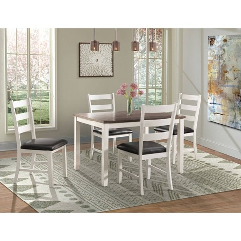 Kona Brown Dining Set-Table & Four Chairs - 5pc - Picket House Furnishings - image 1 of 18