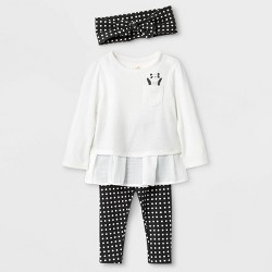 Cat and Jack 3 piece Black and White Outfit
