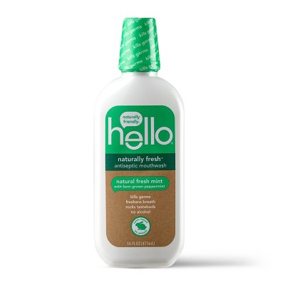 hello Naturally Fresh Antiseptic Mouthwash , Alcohol Free and Vegan , 473ml