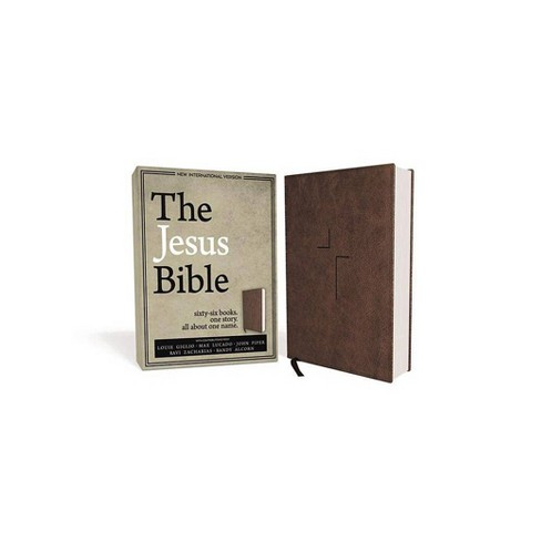 The Jesus Bible, NIV Edition, Imitation Leather, Brown - by  Zondervan (Leather_bound) - image 1 of 1