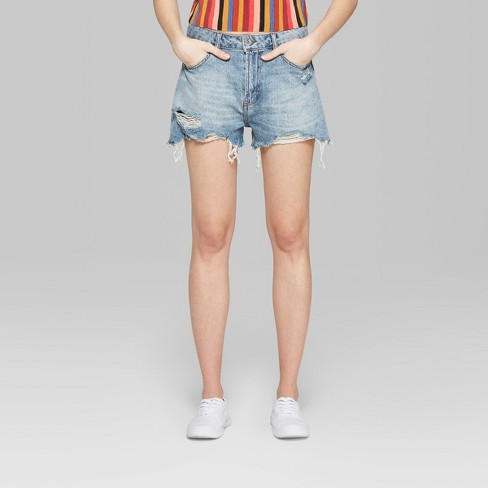 4a2f3436 Women's High-Rise CutOff Destructed Mom Jean Shorts - Wild Fable ...