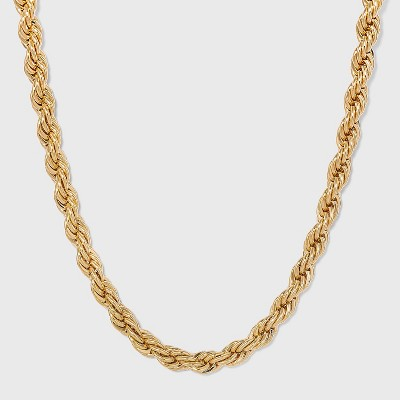 Gold Twisted Chain Necklace - A New Day™ Gold