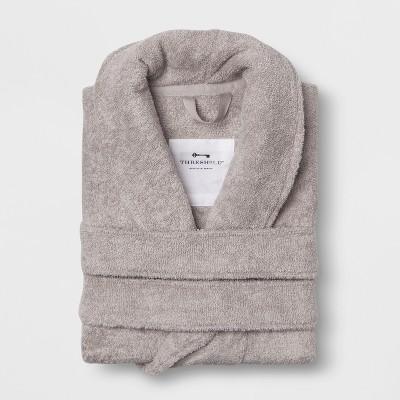 L/XL Terry Spa Robe Gray - Threshold™