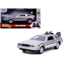 "DeLorean DMC (Time Machine) Silver ""Back to the Future Part II"" (1989) Movie ""Hollywood Rides"" 1/32 Diecast Car by Jada"