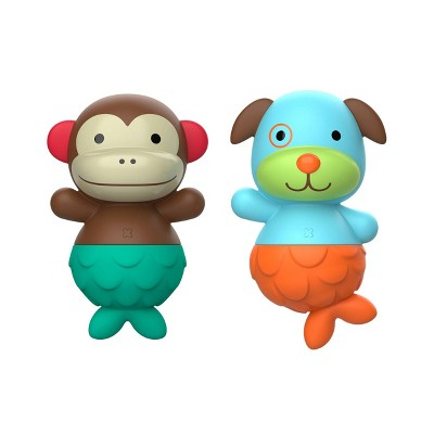 Skip Hop Zoo Mix and Match Flippers Bath Toys - Dog/Monkey