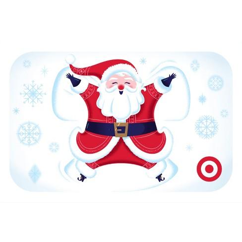Santa Snow Angel Giftcard Target