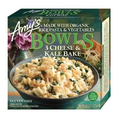 Amy's Frozen Three Cheese Kale Bowl - 8.5oz
