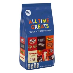 HERSHEY'S All-Time Greats Snack-Size Chocolates - 39.9oz
