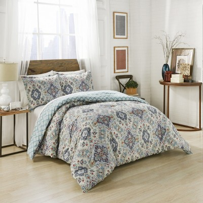 3pc Ahana Reversible Comforter Set - Marble Hill
