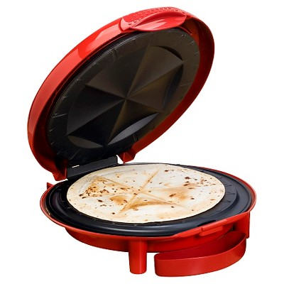 Elite Cuisine 11-Inch Quesadilla Maker in Red