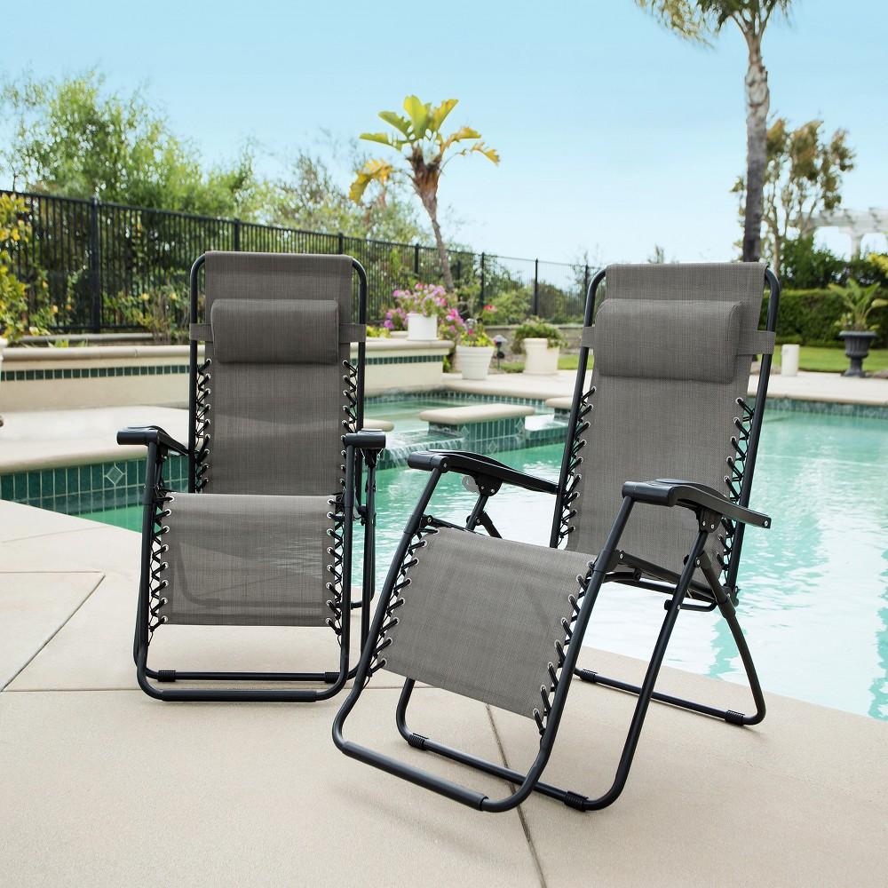 Image of Caravan Global 2 Piece Infinity Zero Gravity Chair - Gray