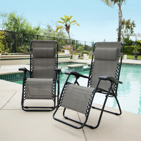 Caravan Global 2 Piece Infinity Zero Gravity Chair - Gray - image 1 of 4