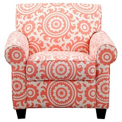Wendy Chair & Ottoman - Coral Medallion - Handy Living