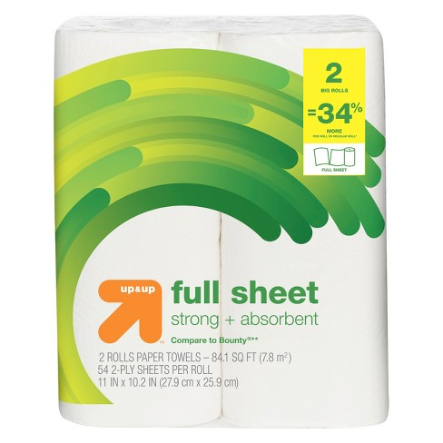 Full Sheet Paper Towels - Big Rolls - Up&Up™ (Compare to Bounty®) - image 1 of 1