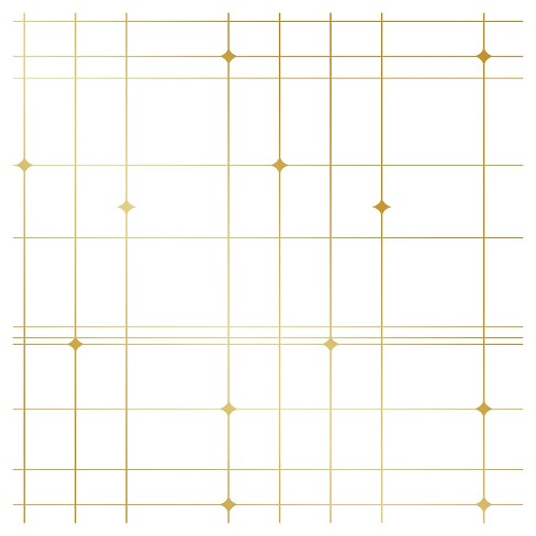 Tempaper Thermoscad Self Adhesive Removable Wallpaper Metallic Gold Target
