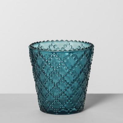 Glass Votive Candle Holder - Teal - Opalhouse™