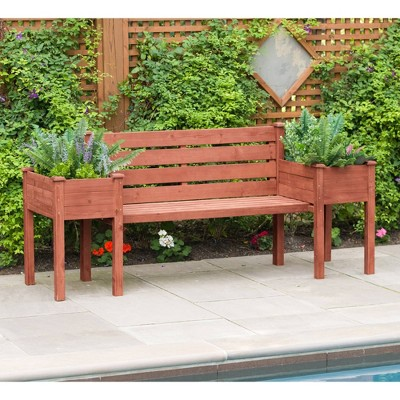 "38"" H Novelty Wood Planters - Brown - Leisure Season"