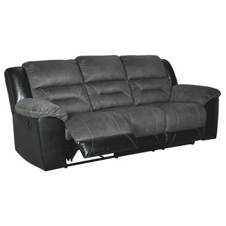 Earhart Reclining Sofa Gray - Signature Design by Ashley