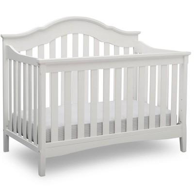 Delta Children Farmhouse 6-in-1 Convertible Crib - Textured White