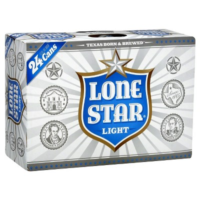 Lone Star Light Beer - 24pk/12 fl oz Cans