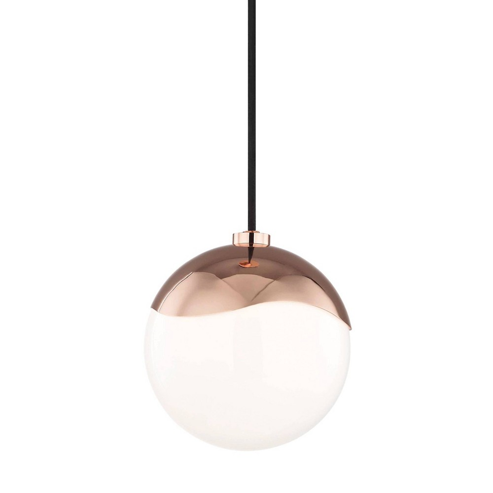 Ella 1-Light Small Pendant Chandelier Polished Copper - Mitzi by Hudson Valley Coupons
