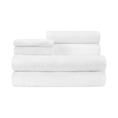 6pc Adele Bath Towel Set White - CARO HOME
