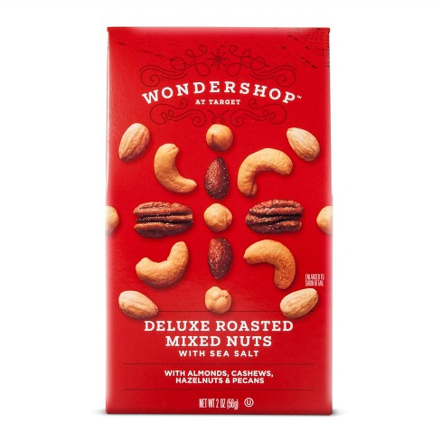 Holiday Edition Deluxe Roasted Mixed Nuts with Sea Salt - 2oz - Wondershop™ - image 1 of 1