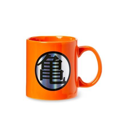 Dragon Ball Z Dragon Ball Z Kame Kanji And Logo Orange Ceramic Mug