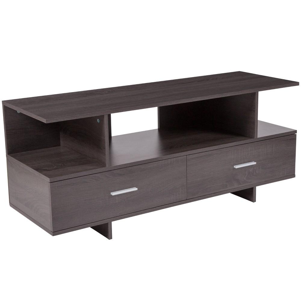 Fields TV Stand/Console Brown - Riverstone Furniture
