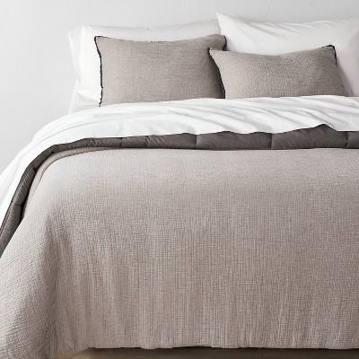 Textured Chambray Cotton Comforter & Sham Set - Casaluna™